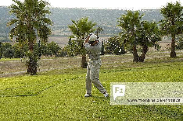 Golfspieler  Golfplatz  Reserva Rotana  Manacor  Mallorca  Balearen  Spanien