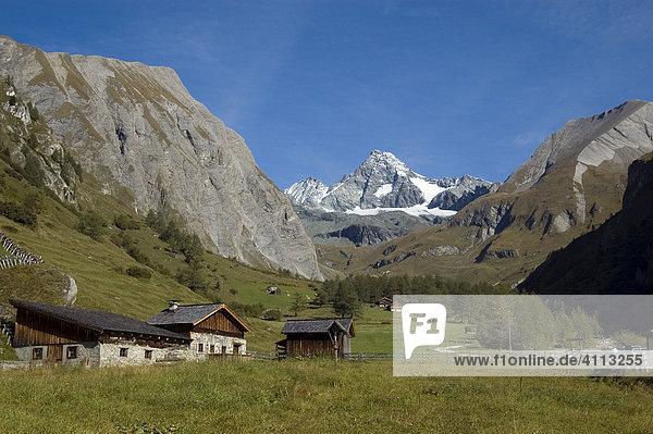 Gr. Glockner 3798m vom Lucknerhaus  Kalser Glockner Hochalpenstraße  Kals  Osttirol  Tirol  Österreich