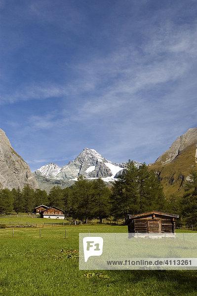 Gr. Glockner 3798m  vom Lucknerhaus  Kalser Glockner Hochalpenstraße  Kals in Osttirol  Tirol  Österreich