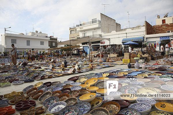 Ceramic trade - bazaar of Nabeul  Tunisia