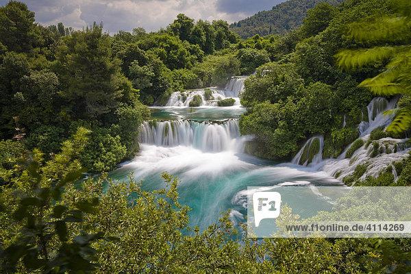 Nationalpark Krka Wasserfälle  Dalmatien  Kroatien