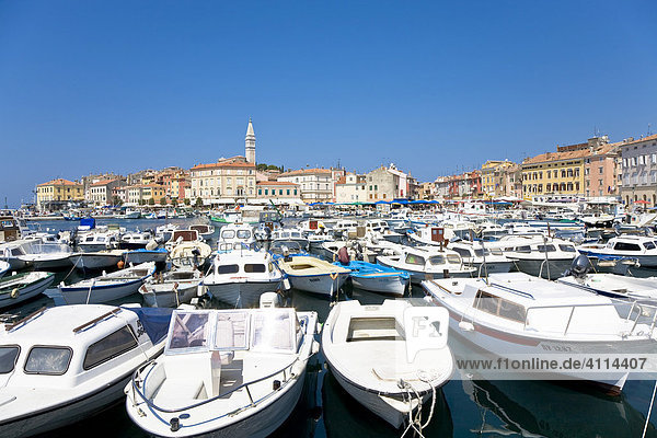Hafen von Rovinj,  Istrien,  Kroatien