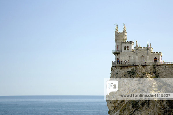 Das Schwalbennest am Kap Air-Tudor  Jalta  Krim  Ukraine  Süd-Osteuropa  Europa