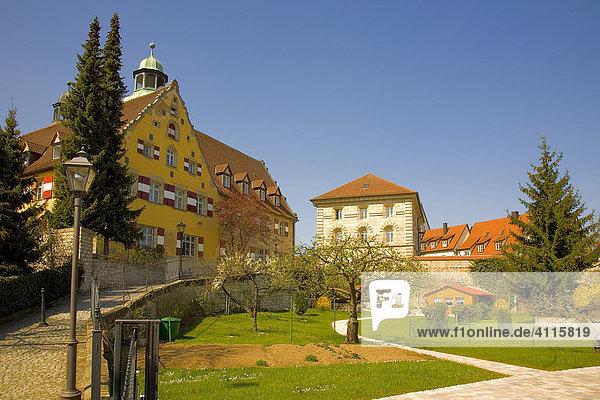 Schloss mit Garten  Hersbruck  Oberfranken  Bayern  Deutschland  Europa