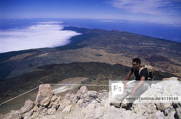 Auf dem Gipfel des Teide  Teneriffa