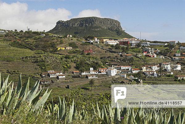Tafelberg Fortaleza  Insel La Gomera  Kanarische Inseln  Spanien  Europa Insel La Gomera