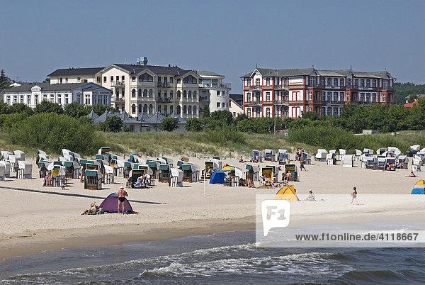 Strand im Seebad Heringsdorf  Insel Usedom  Mecklenburg-Vorpommern  Deutschland  Europa
