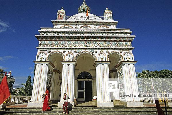 Hindu-Tempel von Triolet  Insel Mauritius  Afrika