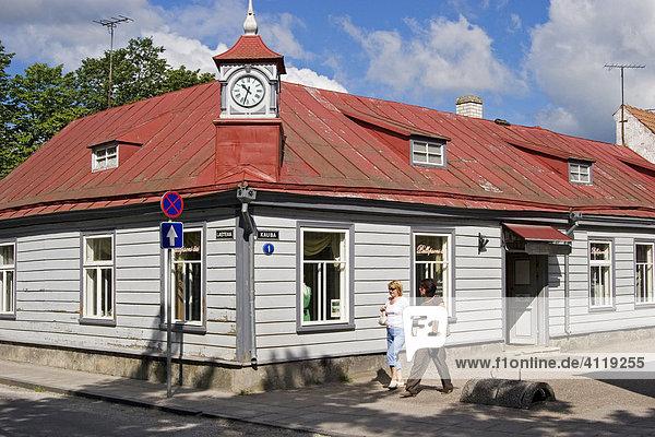 Stadtansichten  Häuser in Kuressaare  Insel Saaremaa  Estland  Europa