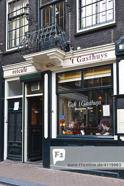 Cafe und Gasthaus  Amsterdam  Holland  Niederlande  Europa