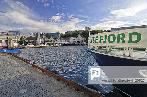 Hafen in Stavanger  Rogaland  Norwegen  Skandinavien  Europa
