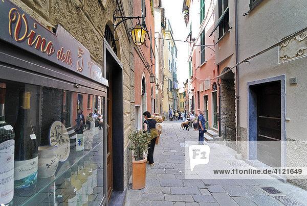 Gasse in Vernazzo  Ligurien  Cinque Terre  Italien  Europa