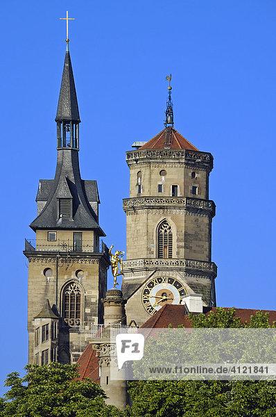 Collegiate Church (Stiftskirche)  Stuttgart  Baden-Wuerttemberg  Germany  Europe