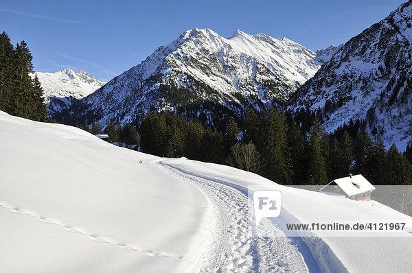 Winter im Kleinwalsertal  Vorarlberg  Österreich