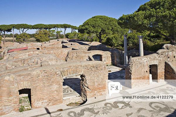 Neptune Baths  Ostia Antica archaeological site  Rome  Italy  Europe