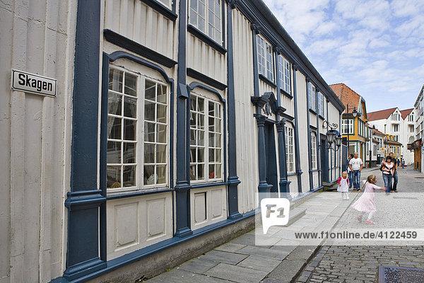 Altes Holzhaus in der Skagen Straße  Stavanger (Kulturhauptstadt 2008)  Norwegen