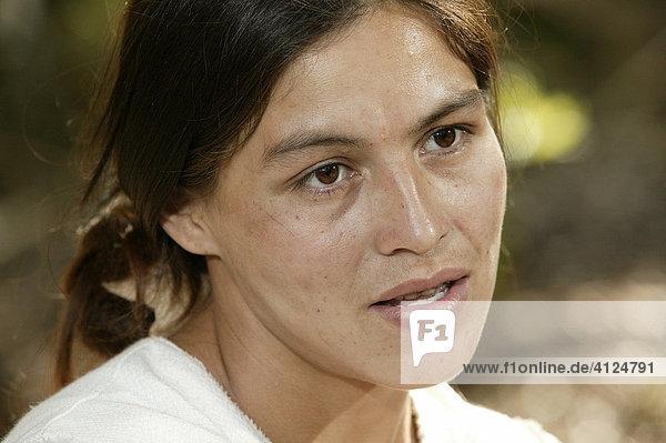 Frauenportrait  Asuncion  Paraguay  Südamerika
