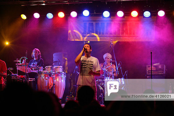 JAMARAM reggae band  reggae concert in Muehldorf am Inn  Upper Bavaria  Bavaria  Germany  Europe