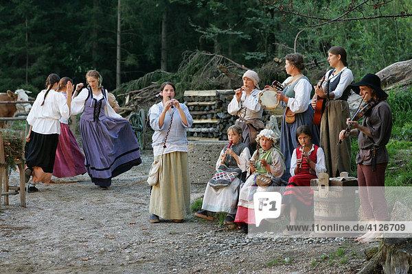 Freilichttheater  Halsbach  Landkreis Altötting  Oberbayern  Bayern  Deutschland  Europa