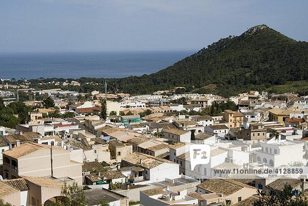 Capdepera  view in the direction of Cala Ratjada  Majorca  Balearic Islands  Spain  Europe