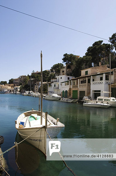 Bucht mit Fischerbooten,  Cala Figuera,  Mallorca,  Balearen,  Spanien,  Europa