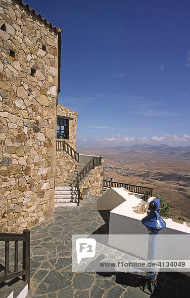 View from the Mirador Morro Velosa to the Valle de Santa Ines  Betancuria  Fuerteventura  Canary Islands  Spain