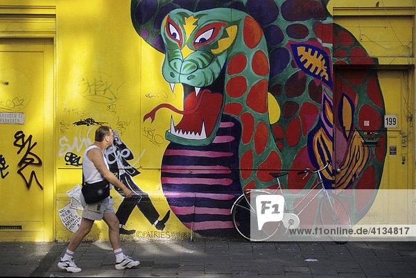 Grafitti in der Spuistraat  Amsterdam  Niederlande