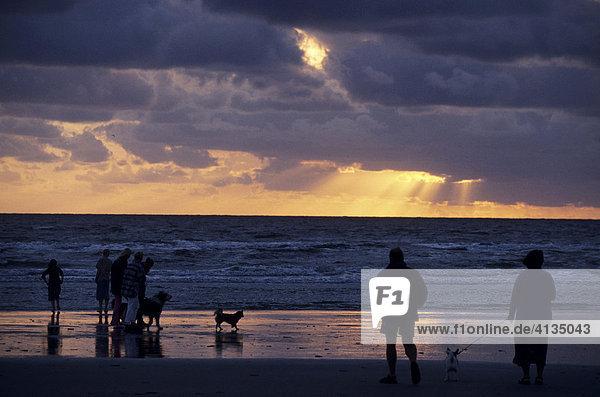 Sunset at car beach  Romo Island  South Denmark