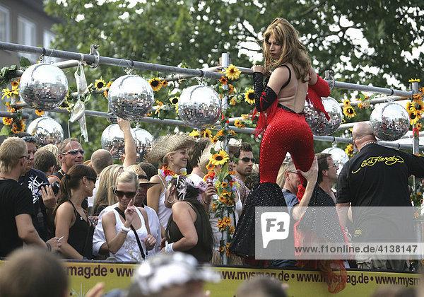 Loveparade 2007 in Essen  Nordrhein-Westfalen  Deutschland