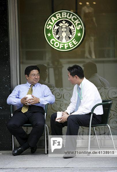 JPN  Japan  Tokio: Starbucks Cafe in Shinjuku