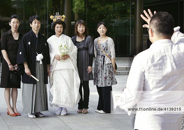 Shinto Heirat  Meiji-Schrein  Tokio  Japan  Asien