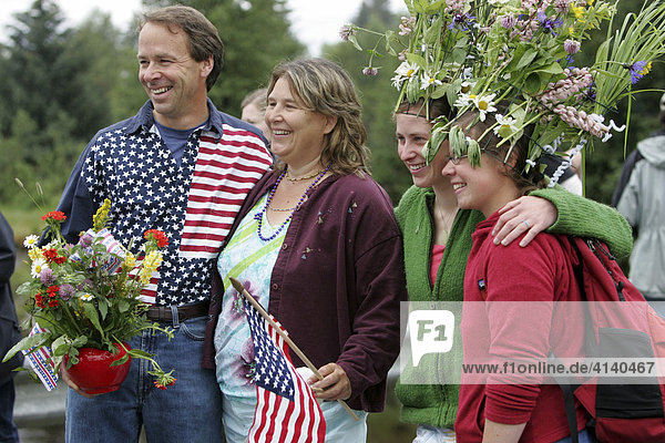 Nationalfeiertag im 400 Einwohner Ort Gustavus  4. Juli  Unabhängigkeitstag (Independence Day)  Gustavus  Alaska  USA  Nordamerika