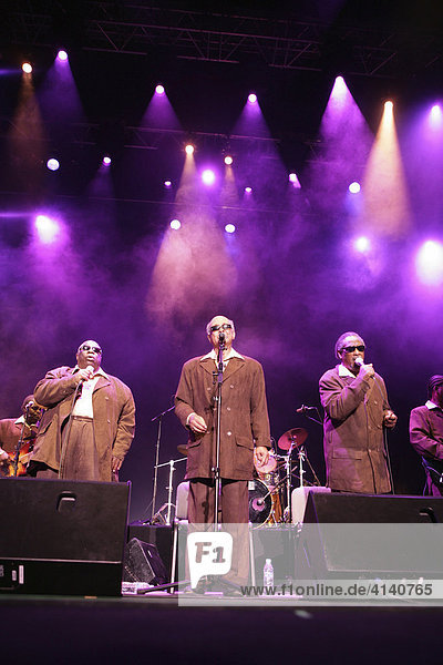 The Blind Boys of Alabama performing at the Jardins de Cap Roig Open Air Music Festival  Calella de Palafrugell  Costa Blanca  Catalonia  Spain  Europe