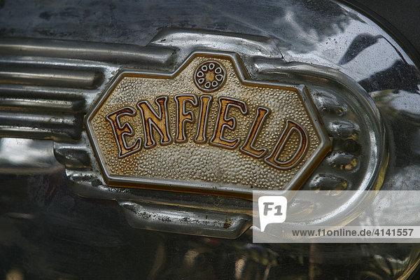 Tank eines Motorrades der Marke Enfield
