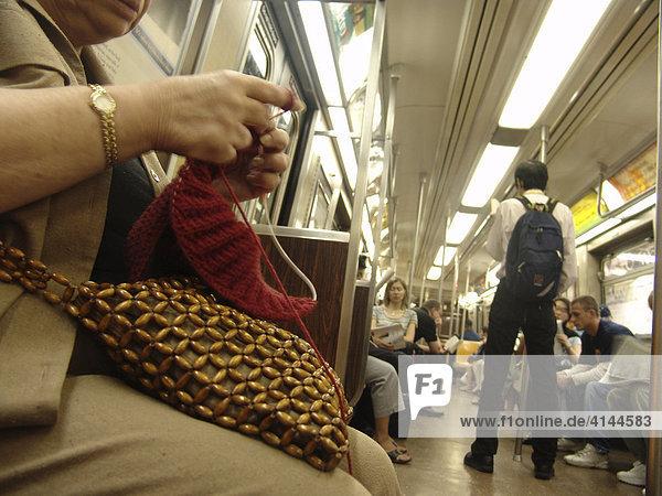 USA  United States of America  New York City: New York Subway.