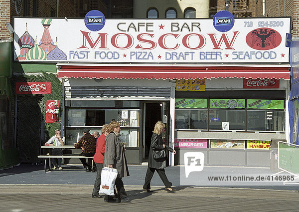 Cafe Bar Moscow on Coney Island  New York  USA