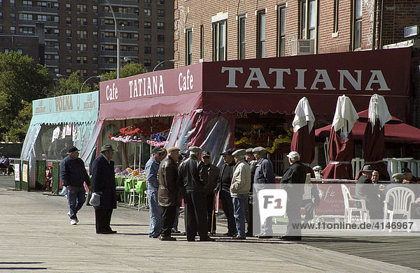 Tatiana  Russian cafe on Coney Island  New York  USA