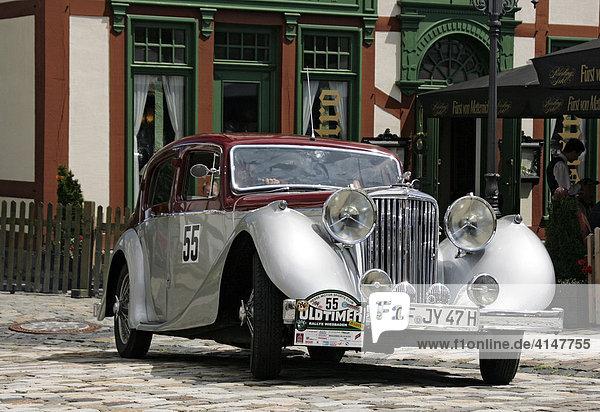 Oldtimer Jaguar MK4 SS3 5 Baujahr 1947  Oldtimer-Rallye Wiesbaden 2007  Hessen  Deutschland