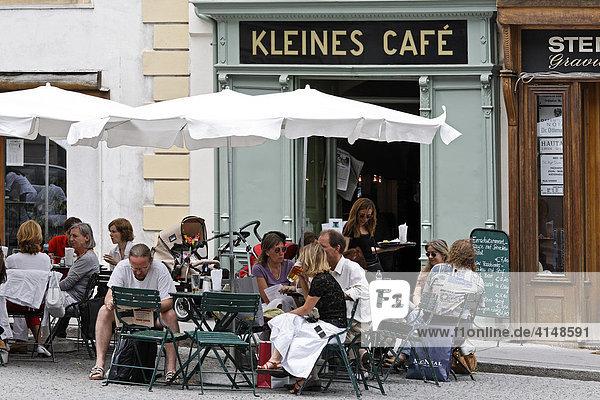 Kleines Stadt Café Franziskanerplatz  Wien  Österreich