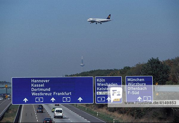 Anflug Frankfurt Flughafen