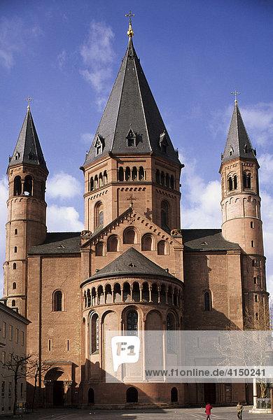 Cathedral  Mainz  Rhineland Palatinate  Germany  Europe