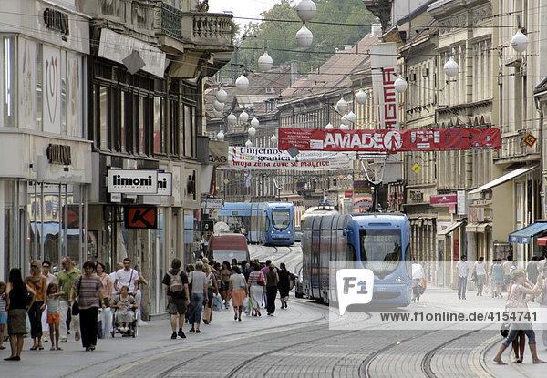 Ilica  Einkaufsmeile und Lebensader. Zagreb Kroatien