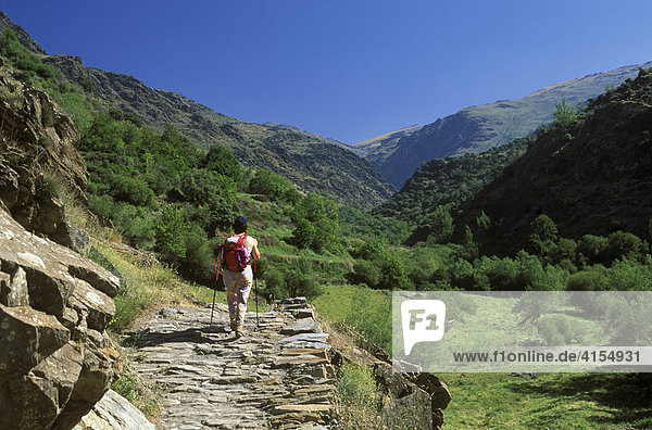 Trevélez-Tal  Wanderin  Sierra Nevada  Alpujarra  Alpujarras  Granada  Andalusien  Spanien