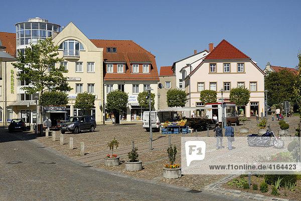 Marktplatz  Bergen  Rügen  Mecklenburg-Vorpommern  Deutschland