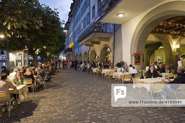 Restaurant in der Altstadt Luzern  Kanton Luzern  Schweiz