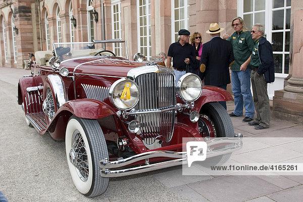Duesenberg J 6.9 litre Roadster  USA 1933  Oldtimer-Gala Schwetzingen  Baden Württemberg Deutschland