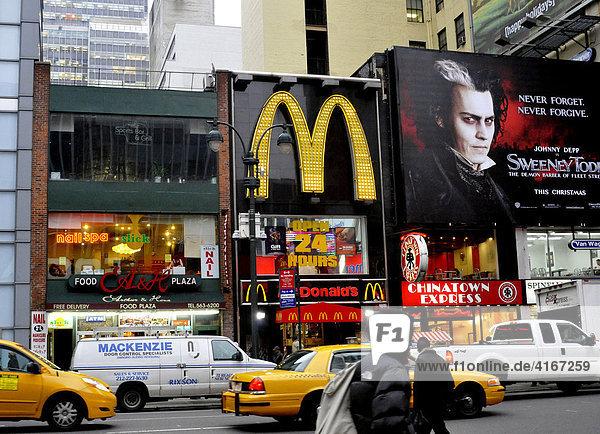 Strasse in New York  USA