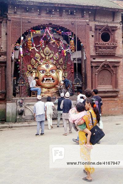 The white Bhairav  Durbar Square  Kathmandu  Nepal  Asia