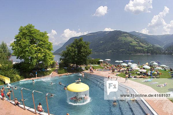 Freibad am Zeller See im Salzburger Land - Zell am See - Österreich