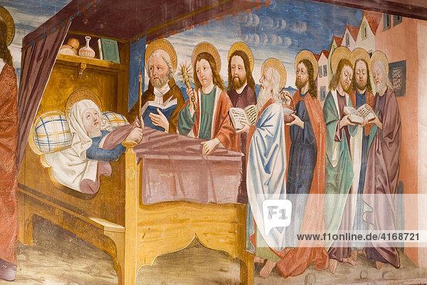Fresken in der Burgkapelle von Schloss Bruck in Lienz Osttirol Österreich